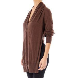 Zucca Brown Cropped Knit Sweater
